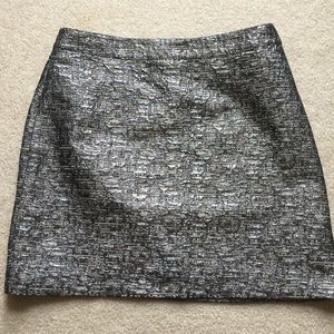 Banana Republic metallic mini skirt.